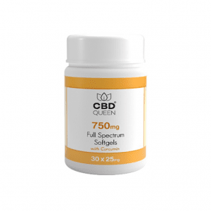 CBD Soft Gel Capsules 750mg – with Curcumin